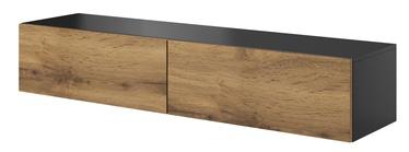 TV-laud Halmar Livo RTV 160W Anthracite/Votan Oak, 1600x400x300 mm