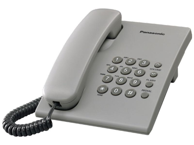 Laidinis telefonas Panasonic KX-TS500FXH, pilkas