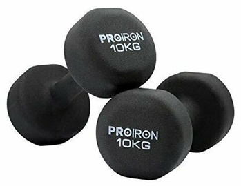 ProIron Neoprene Dumbbell Set Black 2x10kg