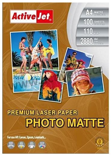ActiveJet Photo Paper Matte A4 for Laser Printers
