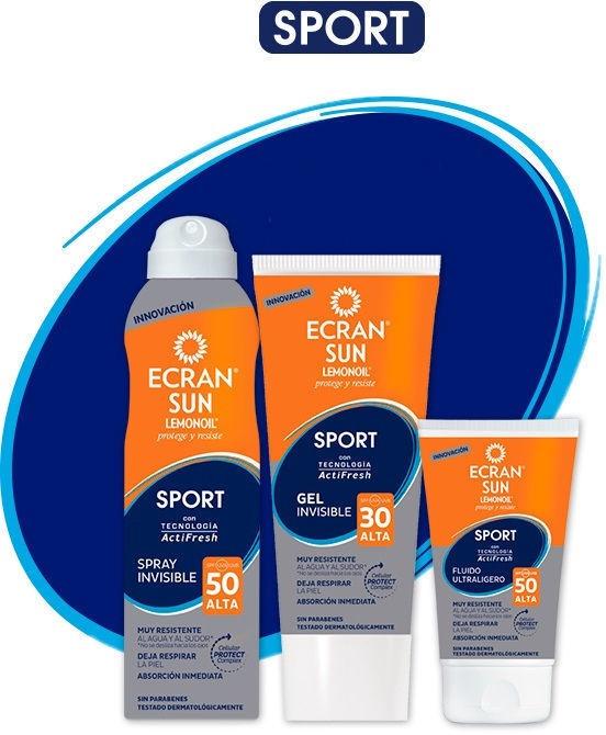 Ecran Sun Lemonoil Sport Gel Invisible SPF30 200ml