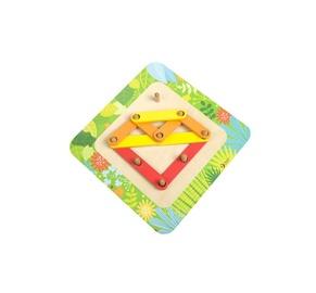 Lavinamasis žaislas, trikampis, medinis