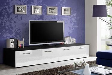 TV galds ASM Duo, balta/melna, 2000x450x350 mm