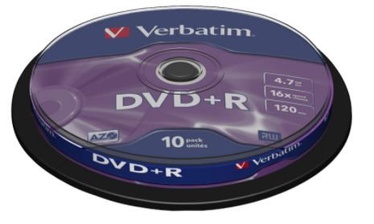 Sony DVD+R 4.7GB 16x 10pcs