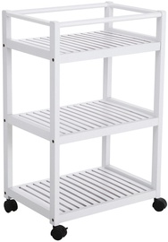 Songmics Rolling Cart White