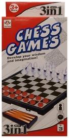 Stalo žaidimas Šaškės ir šachmatai, 3 in 1