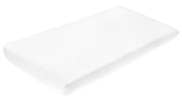 BabyOno Frotte Bed Sheet With Band 120x60 White