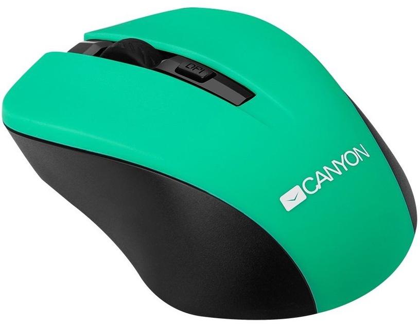 Kompiuterio pelė Canyon CNE-CMSW1 Green, bevielė, optinė