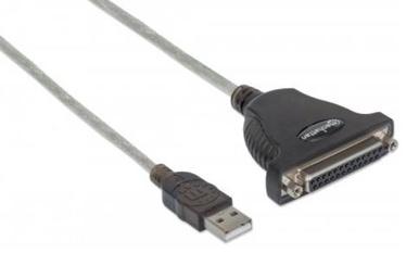 Адаптер Manhattan DB25 to USB, 1.8 м