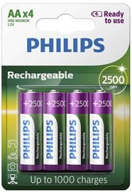 Uzlādējamais elements Philips Rechargeable AA 2500mAh 4x