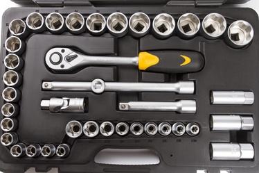 """Padrunvõtmete komplekt Forte Tools 1/2"""", 10-34 mm, 40 tk"""
