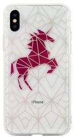 Beline Pattern Back Case For Apple iPhone X/XS Transparent Unicorn