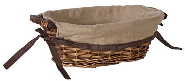 Home4you Basket Willi Home 34x21xH10cm Dark Brown