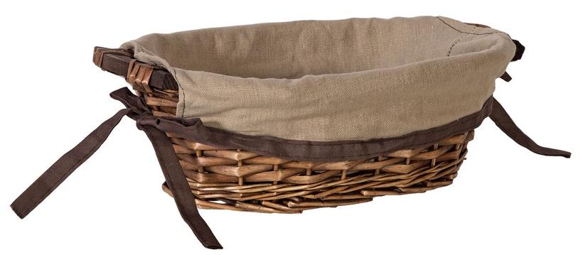 Home4you Basket Willi Home 34x21xH10cm Dark Brown