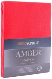 Palags DecoKing Amber, sarkana, 160x200 cm, ar gumiju