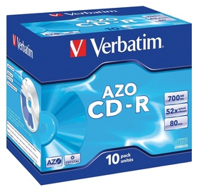 Verbatim CD-R AZO 52X 700MB Crystal Jewel Box