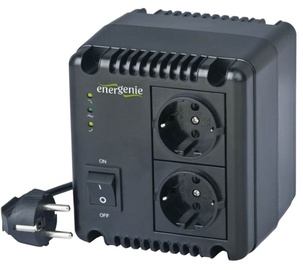 EnerGenie Automatic AC Voltage Regulator and Stabilizer Black