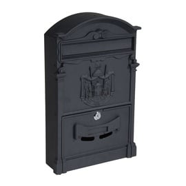 Postkast PW-550AL Black, 256x87x410 mm