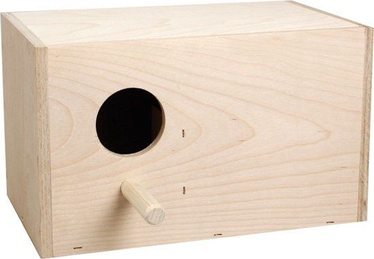 Flamingo Wooden Nest Box For Lovebirds 100046 Beige