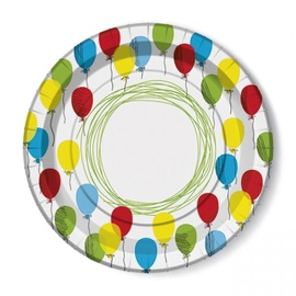 Paw Decor Collection Balloon Paper Plates 23cm