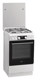 Whirlpool Gas-Electric Cooker WS5G8CHW/E White
