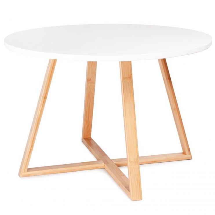 Kafijas galdiņš GoodHome Modern, brūna/balta, 600x600x400 mm