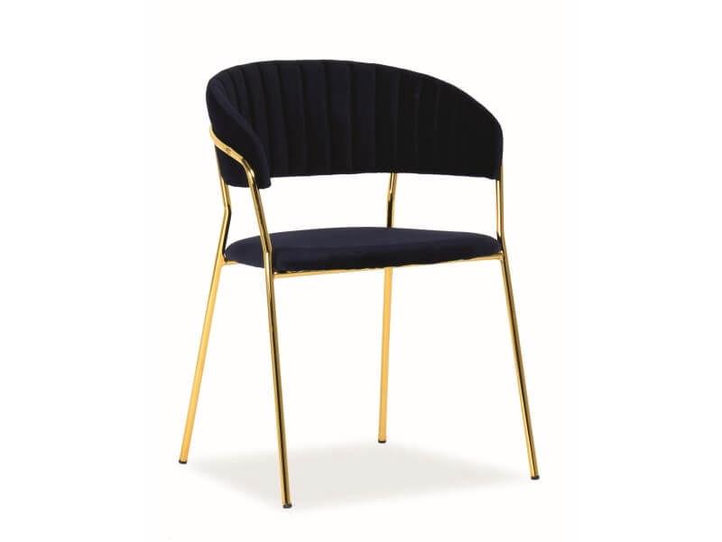 Стул для столовой Signal Meble Lira Velvet Blue/Gold, 1 шт.