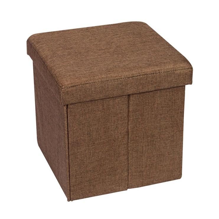 Pufas su daiktadėže, rudas, 38 x 38 x 38 cm
