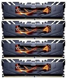 G.SKILL RipJaws 4 16GB 2133MHz CL15 DDR4 Kit Of 4 F4-2133C15Q-16GRK Black