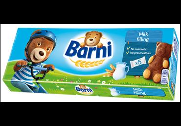 Sausainiai Barni su pieniniu įdaru, 150 g, 5 vnt.