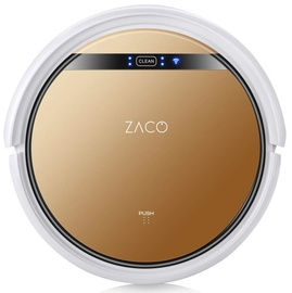 Zaco V5X Robot Vacuum Cleaner White/Bronze Brown
