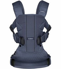 BabyBjorn Baby Carrier One Air Navy Blue Mesh & Teething Bib