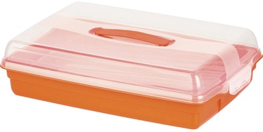 Curver Cake Transporting Box Rectangular 45x29,5x11,1cm Orange