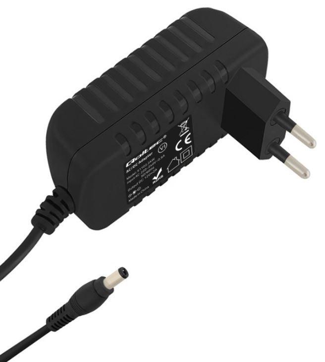 Qoltec AC Adapter 2A 5.5 x 2.5 / Euro Black