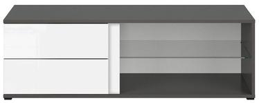 TV galds Black Red White Graphic, balta/pelēka, 1200x486x385 mm