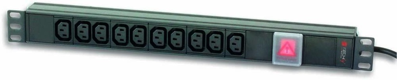 "Techly Rack 19"" PDU 10 VDE Outputs with C14 Plug and Switch"