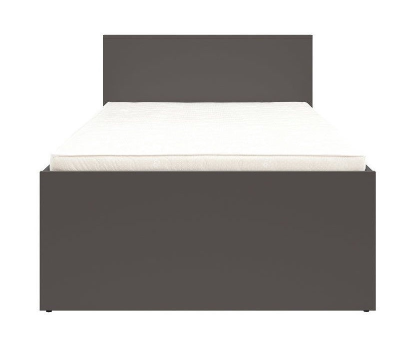 Black Red White Graphic Bed 90x200cm Black