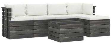Комплект уличной мебели VLX Garden Pallet Lounge Set 3061865, кремовый, 4 места