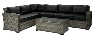 Home4you Geneva Garden Furniture Set Dark Grey