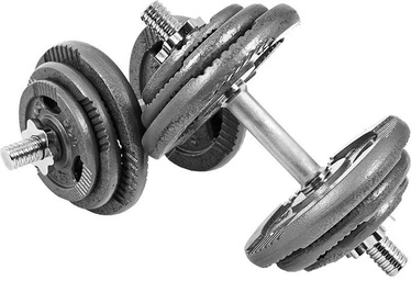 Xylo Cast Iron Dumbbells 2x20kg Silver/Gray