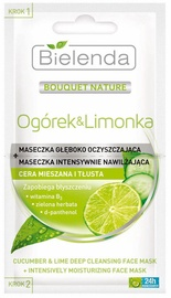 Bielenda Cucumber & Lime Deep Cleansing Mask + Intensively Moisturizing Mask 2 x 5ml