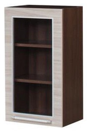 Верхний кухонный шкаф Bodzio Loara Right 40GWP Latte/Nut, 400x310x720 мм
