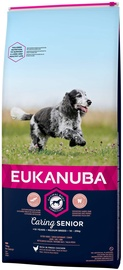 Сухой корм для собак Eukanuba Caring Senior Medium Dog Dry Food With Chicken 15kg