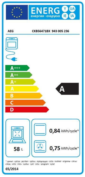 Gaasipliit elektriahjuga AEG CKB56471BX