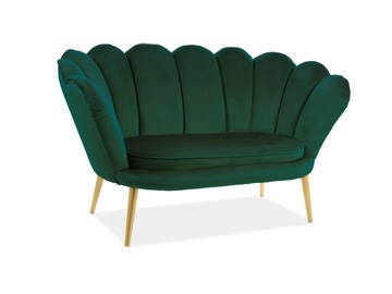 Signal Meble Magnolia 2 Velvet Sofa Green/Gold