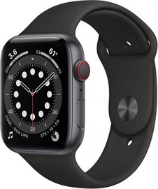 Apple Watch Series 6 GPS 44mm LTE Space Grey Aluminum Black Sport Band