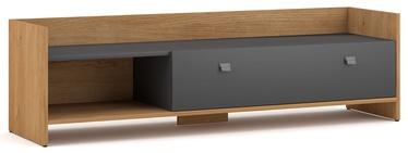 TV galds Vivaldi Meble Open, pelēka/ozola, 1400x370x400 mm