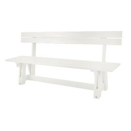Suoliukas Folkland Timber Riva 315, baltas, 180x40x43 cm