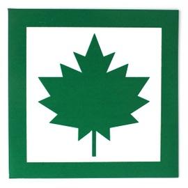 Транспортный знак Bottari Magnetic Sign Green Leaf 10x10cm