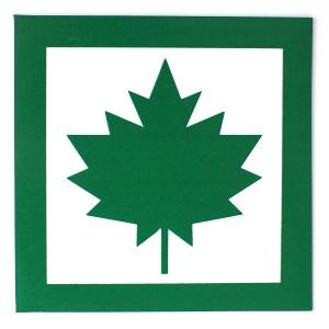 Bottari Magnetic Sign Green Leaf 10x10cm